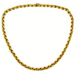 1993 Cartier Gold Chain Necklace