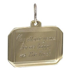 Antique First Anniversary Gold Charm