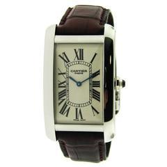 Cartier Platinum Tank American manual wind Wristwatch
