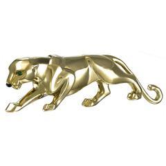 CARTIER  Paris Gold Panther Clip