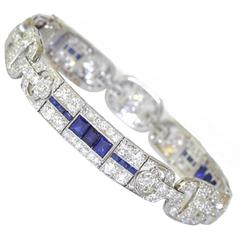 Art Deco Tiffany & Co. Sapphire Diamond platinum Bracelet