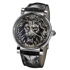 Sicis Stainless Steel Gold Eye Micromosaic Diamond Automatic Wristwatch