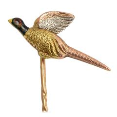 Victorian Three-Tone Gold Pheasant Stick Pin