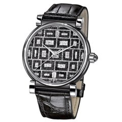 Sicis Checkmate Stainless Steel Micromosaic Automatic Movement Wristwatch