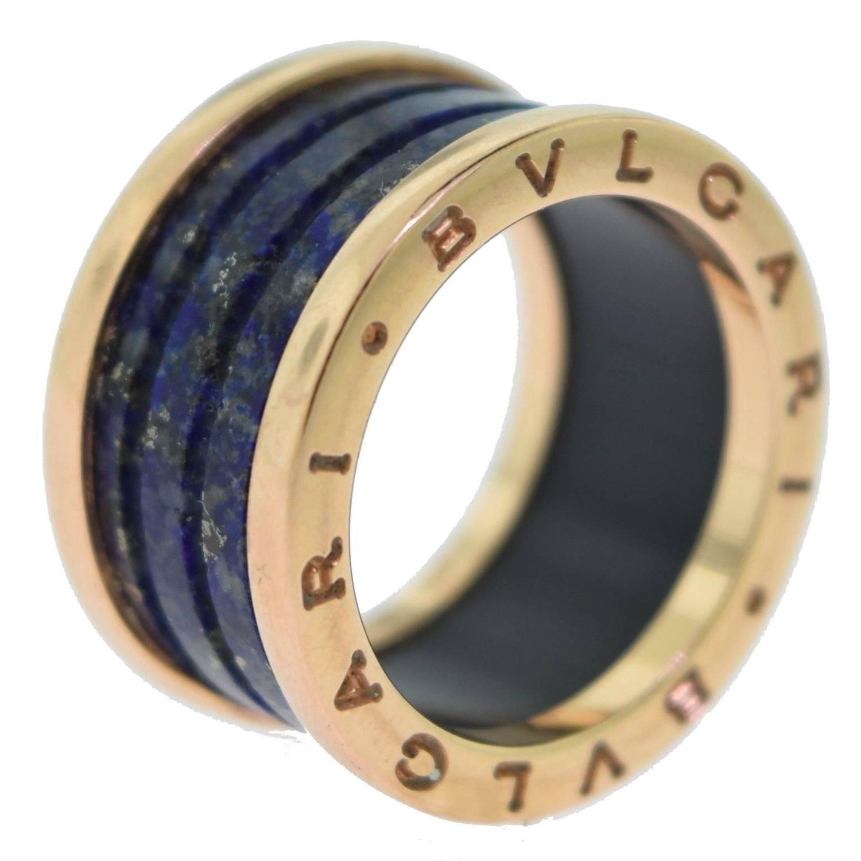 bvlgari bzero1 lapis lazuli 4 band ring with 18k rose gold for sale at 1stdibs