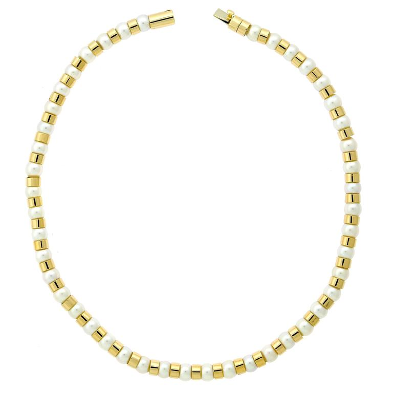 Chanel Pearl Bead Gold Necklace