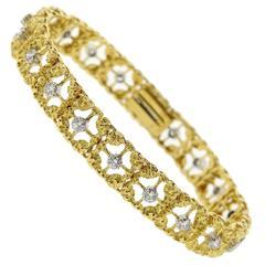 Buccellati Diamond Gold Bracelet