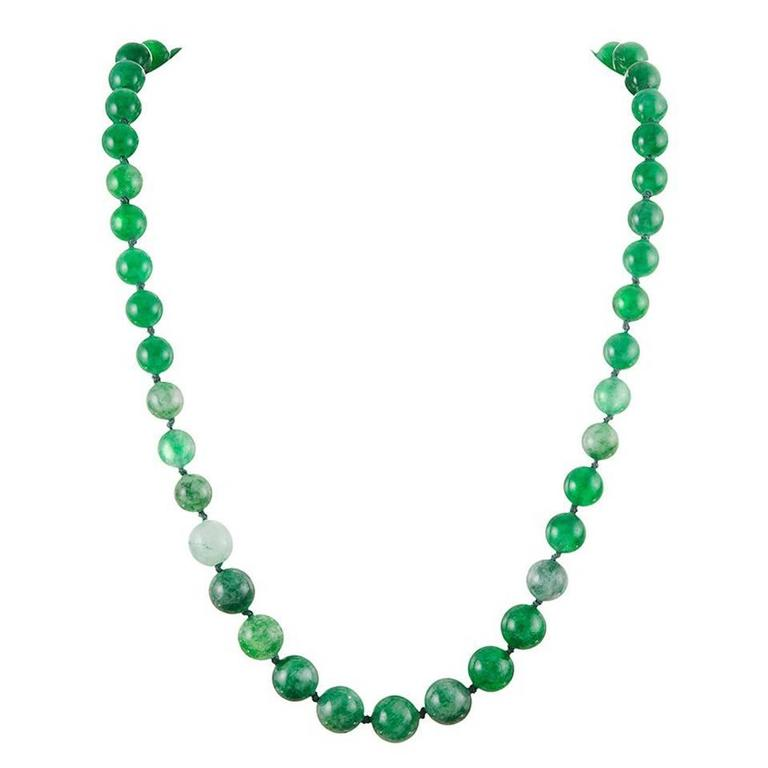 jadeite bead necklace for sale at 1stdibs