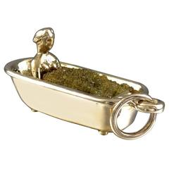 Bubble Bath Gold Charm
