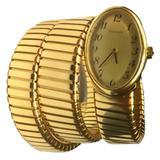 Bulgari Ladies yellow gold Tubogas Bracelet Wristwatch