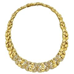 Arfan Diamond Gold Collar Necklace