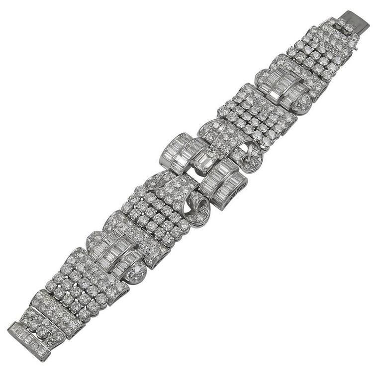 1950s Diamond platinum Bracelet