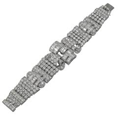 1950s Diamond platinum Bracelet