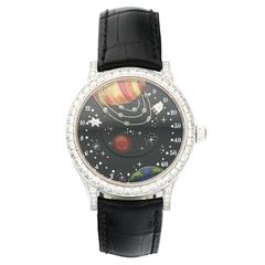 Van Cleef & Arpels White Gold Diamond From The Earth to the Moon Wristwatch