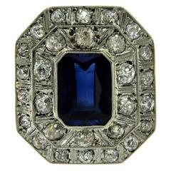 Retro Verneuil Diamonds Gold Ring