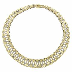 Buccellati  Interwoven Two Color Gold Collar Necklace