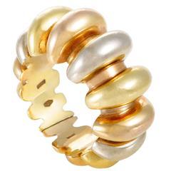 Bulgari Celtica Three Color Gold Band Ring