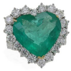 Diamonds Emerald Heart Fashion Ring