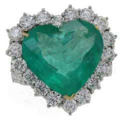 Luise Diamonds Emerald Heart Fashion Ring