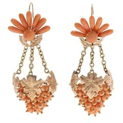 Luise Chandelier Grape Fruit Earrings