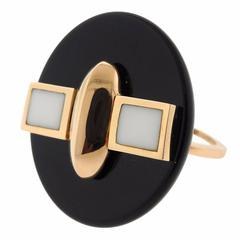 Giorgio Facchini Onyx Gold Ring