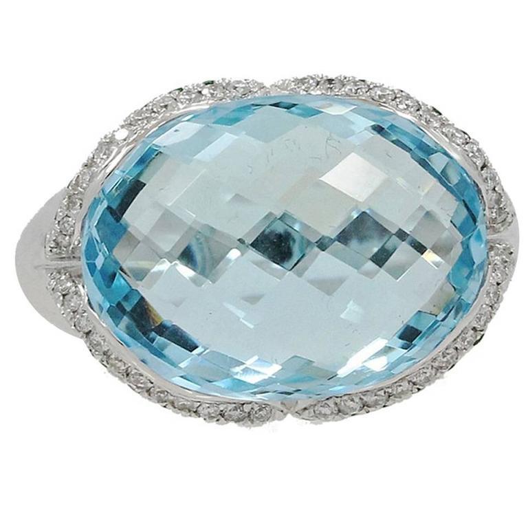 blue topaz diamonds tsavorites ring for sale at 1stdibs