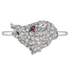 Antique Diamond Wild Boar Ring