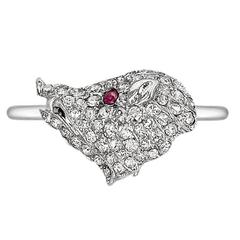 Antique Diamond Wild Boar Ring