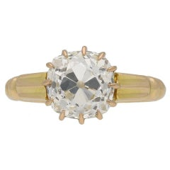 1890s Antique English old mine diamond solitaire ring