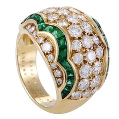 Van Cleef & Arpels Emerald Diamond Gold Ring