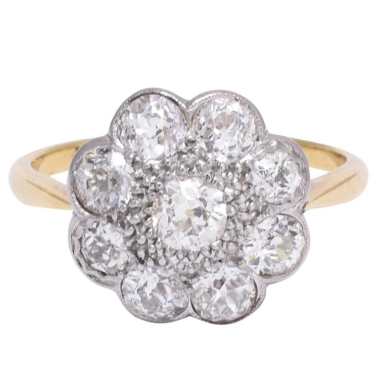 rings product in uk design yellow engagement ring cluster wedfit gold diamond source daisy stone