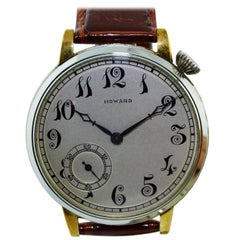 Howard Watch Co. Two-Color Gold Oversized Watch