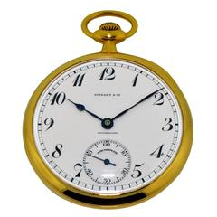 Patek Philippe for Tiffany & Co. New York Yellow Gold Pocket Watch