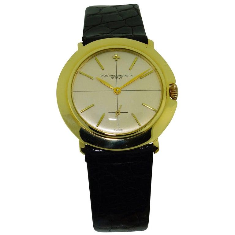 Vacheron & Constantin Yellow Gold Manual Winding Watch, circa 1950s For Sale