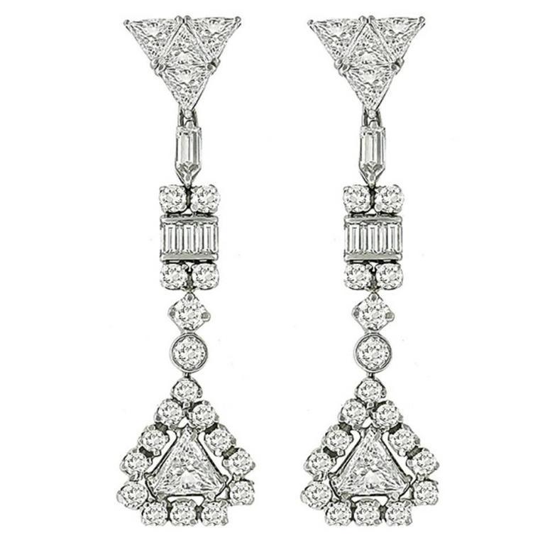 Stunning Diamond Gold Chandelier Earrings