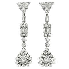 Stunning Diamond Gold Chandelier Earrings