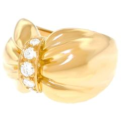 Van Cleef & Arpels Diamond Set Yellow Gold Ring