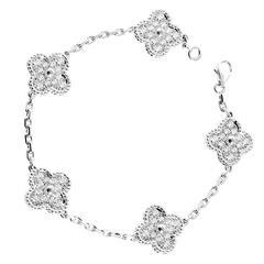 Van Cleef & Arpels Vintage Alhambra Diamond Bracelet