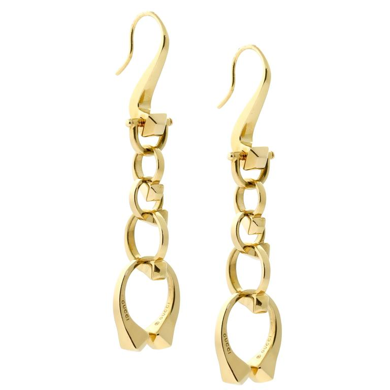 Gucci Nail Gold Drop Earrings