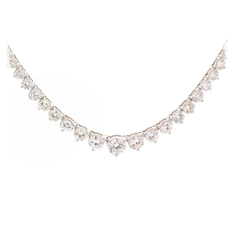 Modern Diamond gold Line Necklace For Sale