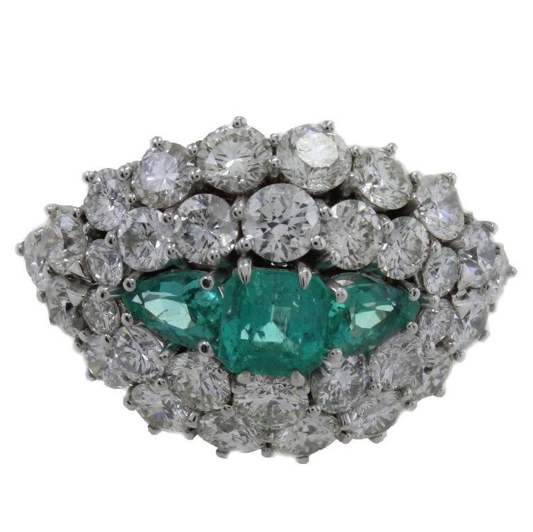 Diamond Emerald Gold Ring