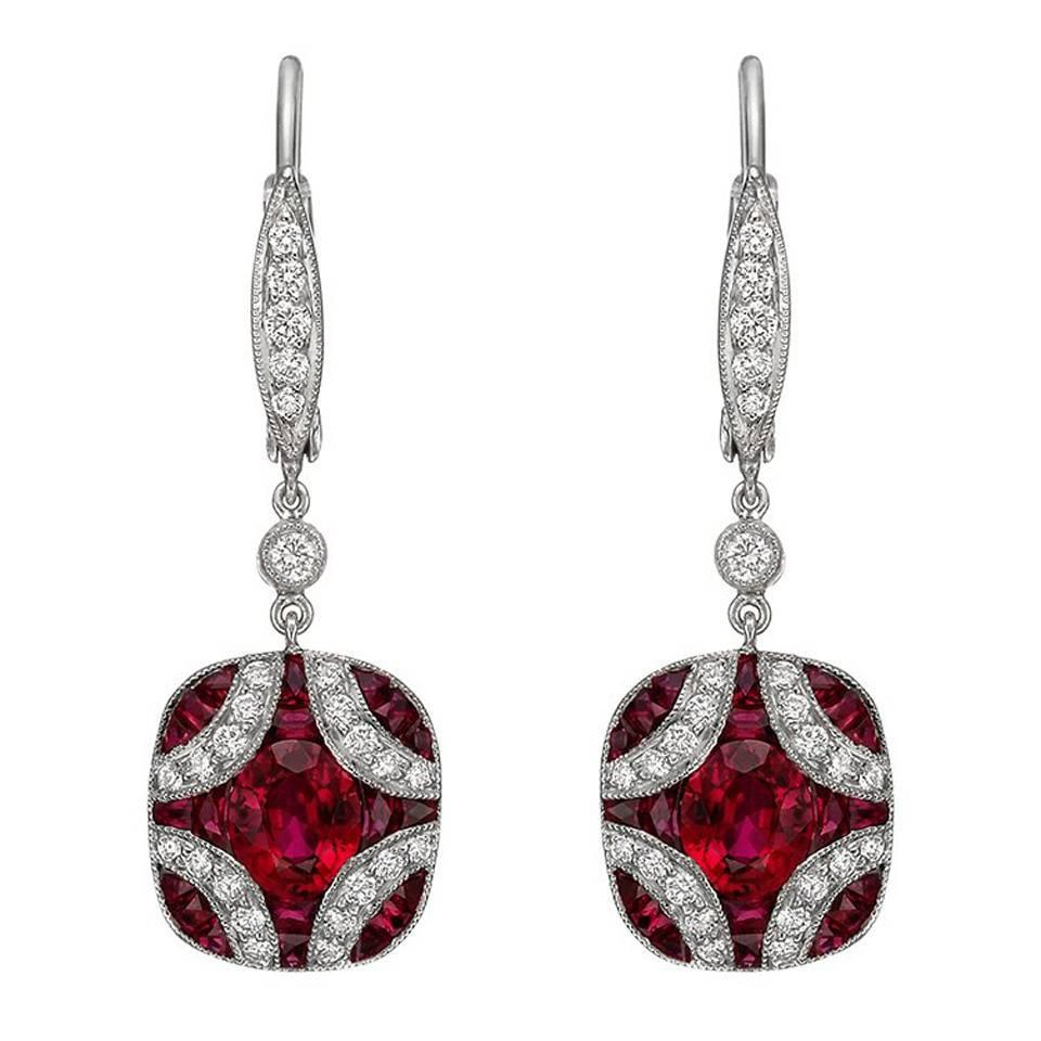 product jewelry earrings normal in metallic kwiat silver diamond platinum gallery lyst cluster