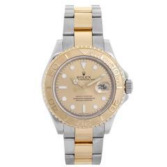 Rolex Yellow Gold Stainless Steel Yacht Master Sport Wristwatch 16623