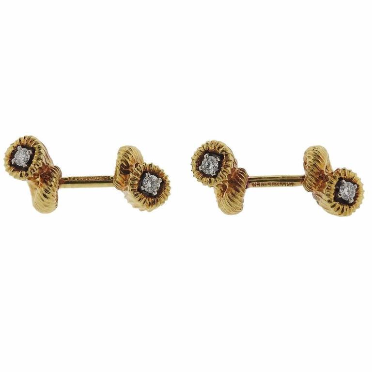 Tiffany & Co. Jean Schlumberger Diamond Gold Cufflinks