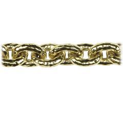 Ippolita Hammered Oval Gold Link Necklace