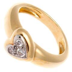 Van Cleef & Arpels Diamond Gold Heart Ring