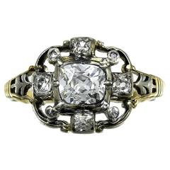 Antique English Georgian Diamond Ring