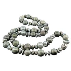 Tahitian and Keshi Pearl Necklace