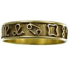 Antique English Georgian Gold Zodiac Ring
