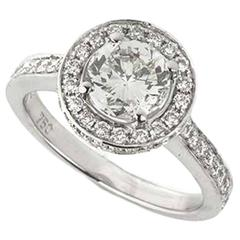 Round Brilliant Cut 1.07 Carat Diamond Ring